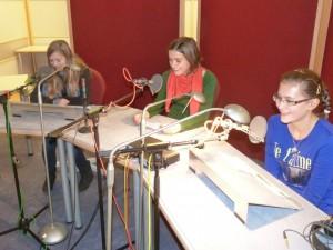 Die PPG Schüler bei der Studioaufnahme